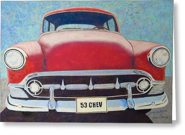 Headlight Pastels Greeting Cards - Road Trip Greeting Card by Jeani Gustafson Shalene Henley