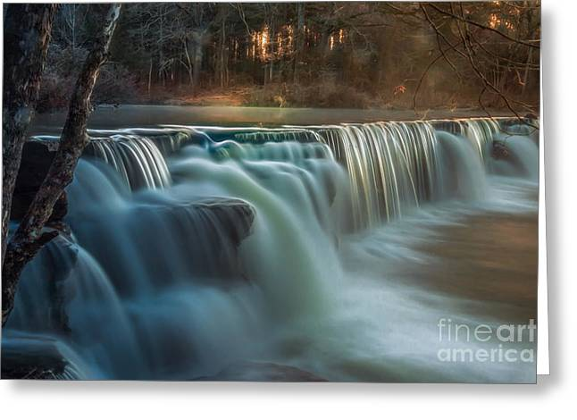Natural Dam Arkansas Greeting Cards - Road Trip Greeting Card by Larry McMahon