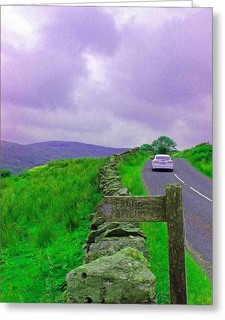 Grey Clouds Greeting Cards - Road Trip Greeting Card by Martin Newman