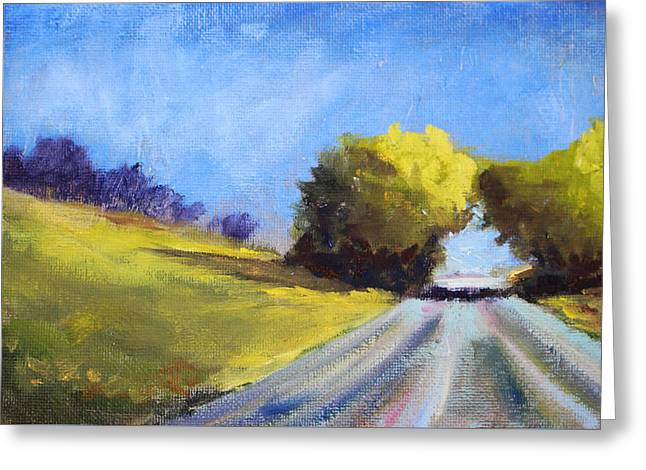 Spring Scenes Greeting Cards - Road Trip Greeting Card by Nancy Merkle