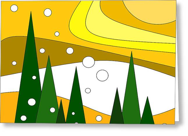 Road Trip Vi - Snow And Sun Greeting Card by Val Arie