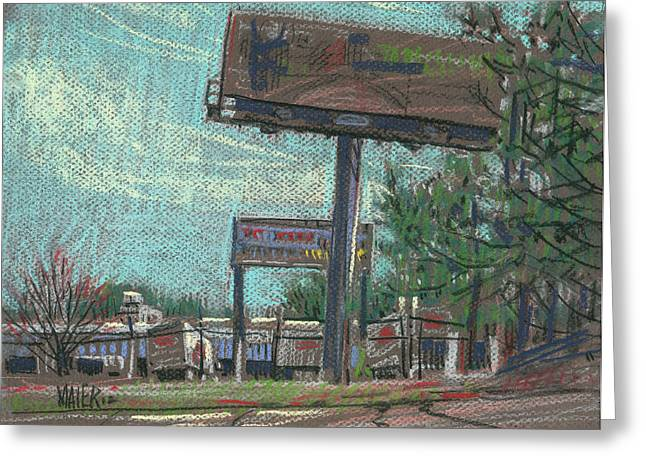 Billboard Greeting Cards - Roadside Billboards Greeting Card by Donald Maier
