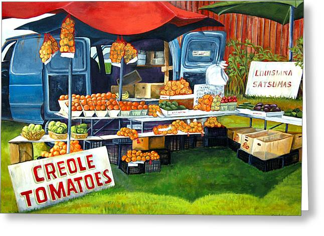 Roadside Market Greeting Card by Elaine Hodges