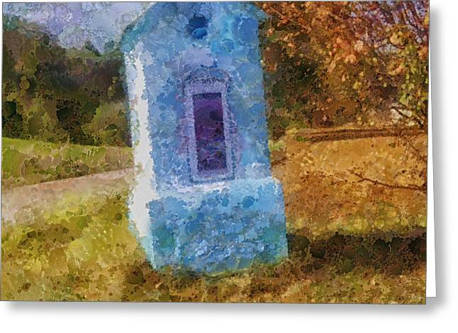 Roadside Shrine Greeting Card by Mo T