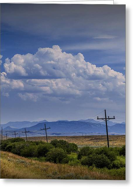 Montana Landscape Art Greeting Cards - Roadside View along a Montana Road Highway Greeting Card by Randall Nyhof