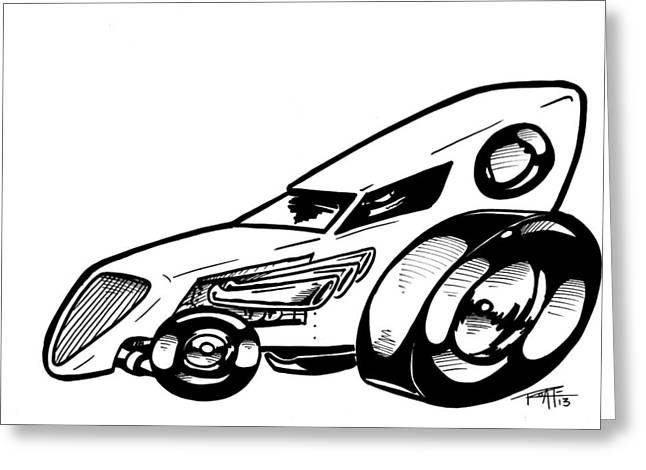 Bad Drawing Greeting Cards - Roadster Greeting Card by Big Mike Roate