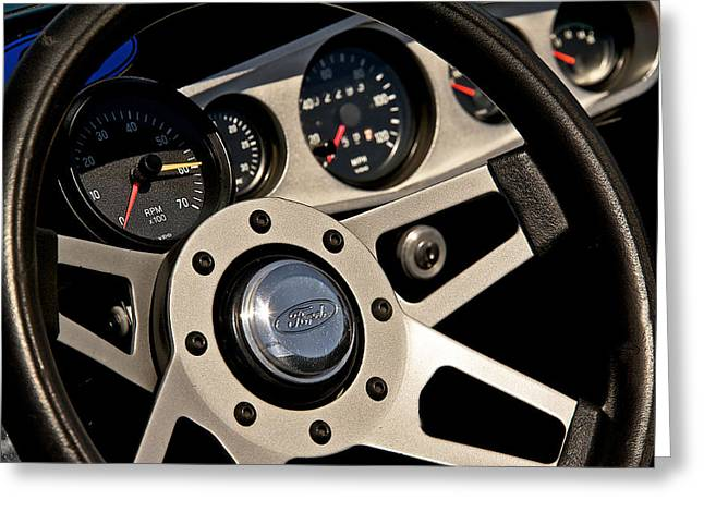 Fuel Gauge Greeting Cards - Roadster Interior Detail Greeting Card by Dave Koontz