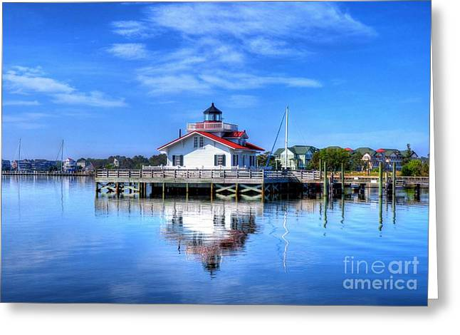 Roanoke Marshes Light 3 Greeting Card by Mel Steinhauer
