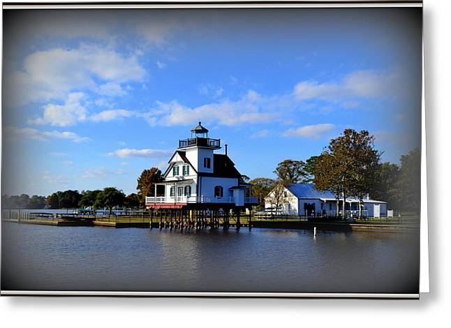 Faa Featured Greeting Cards - Roanoke River Lighthouse Greeting Card by Toni Abdnour