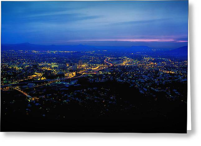 Roanoke Greeting Cards - Roanoke Valley Sunset Greeting Card by Mountain Dreams