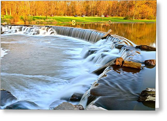 Roaring Falls Greeting Cards - Roaring Falls Greeting Card by Frozen in Time Fine Art Photography
