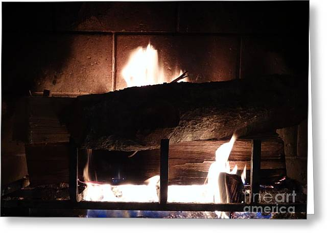 Firepit Greeting Cards - Roaring Fire II Greeting Card by Joseph Baril