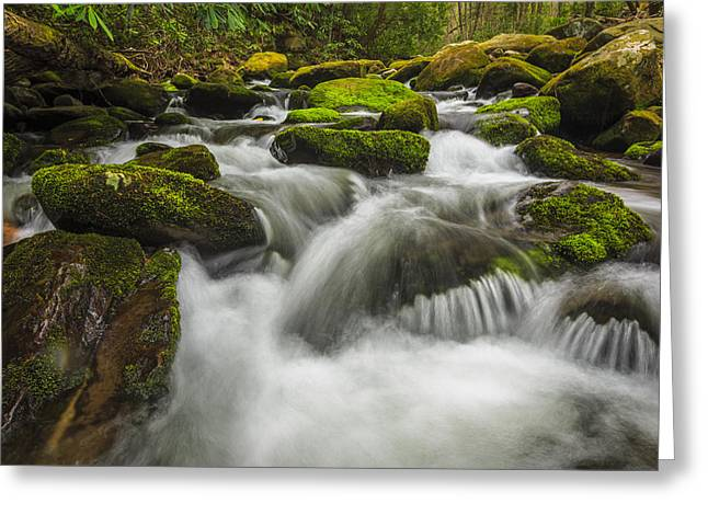 Whitewater Greeting Cards - Roaring Forks Greeting Card by Mike Lang