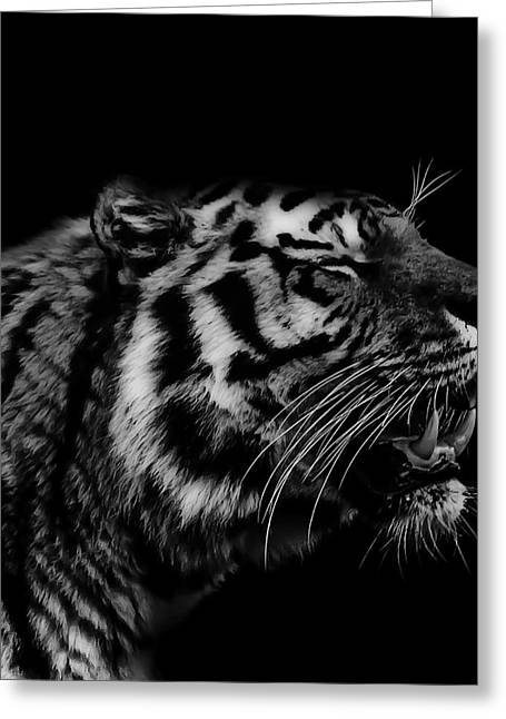 Fangs Greeting Cards - Roaring Tiger Greeting Card by Martin Newman
