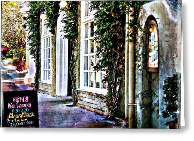 Al Fresco Greeting Cards - Roast Restaurant Sarasota Florida Greeting Card by Barbara Chichester