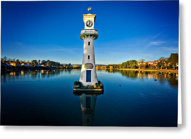 Scott Of The Antarctic Greeting Cards - Roath Park Evening Greeting Card by Meirion Matthias