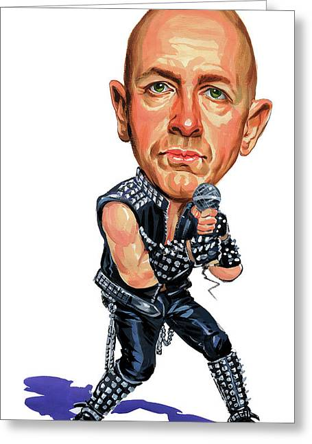 Judas Greeting Cards - Rob Halford Greeting Card by Art