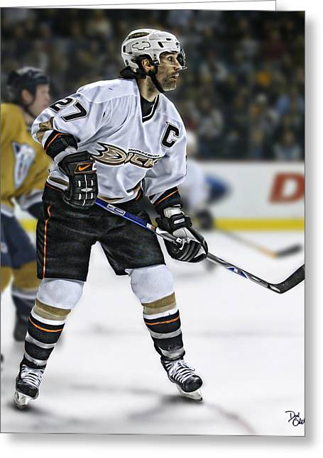 Reebok Greeting Cards - Rob Niedermayer Greeting Card by Don Olea