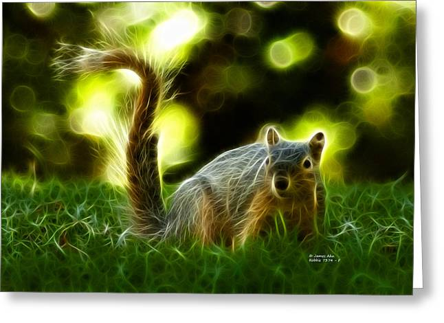 Robbies Greeting Cards - Robbie the Squirrel - 7374 - F Greeting Card by James Ahn