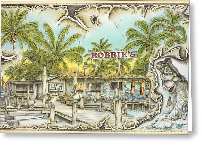 Thatch Pastels Greeting Cards - Robbies Place Greeting Card by Mike Williams
