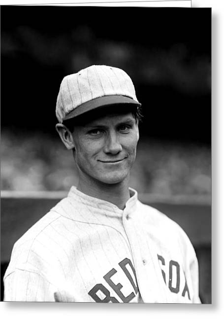 Boston Red Sox Greeting Cards - Robert A. Asby Asbjournson Greeting Card by Retro Images Archive