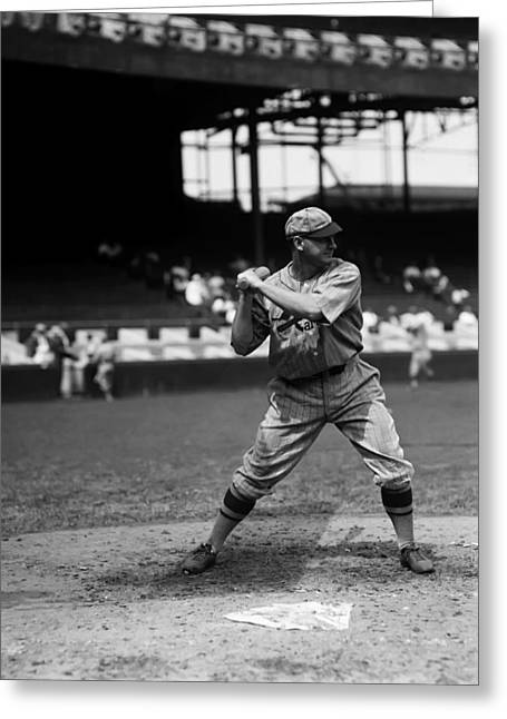 Baseball Bat Greeting Cards - Robert A. Bob OFarrell Greeting Card by Retro Images Archive