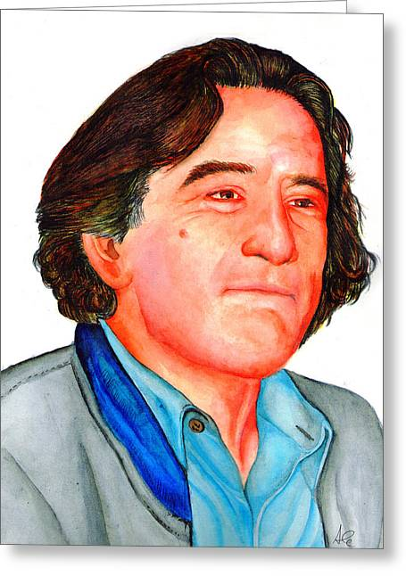 Robert De Niro Greeting Cards - Robert Greeting Card by Alessandro Della Pietra
