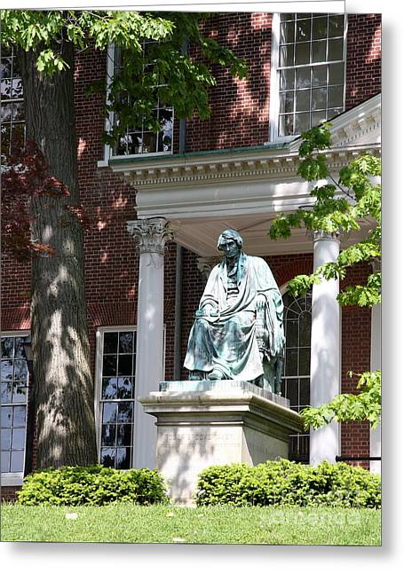 Bronce Greeting Cards - Robert Brooke Taney Statue - Maryland State House  Greeting Card by Christiane Schulze Art And Photography