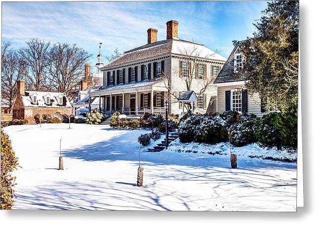 Carter House Greeting Cards - Robert Carter House Greeting Card by George Hunt Jr