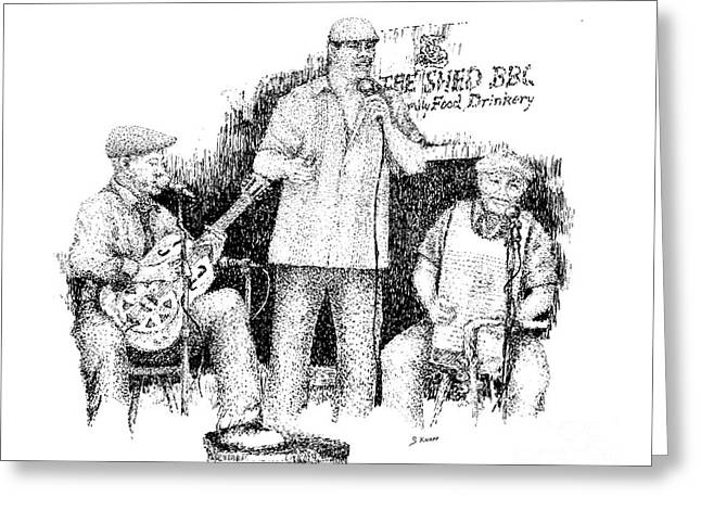 Player Drawings Greeting Cards - Robert Chuck and Stan Greeting Card by Steve Knapp