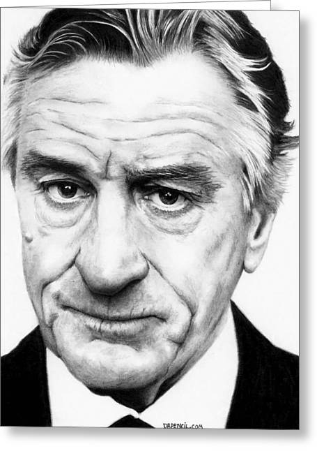 Robert De Niro Greeting Cards - Robert De Niro Greeting Card by Rick Fortson