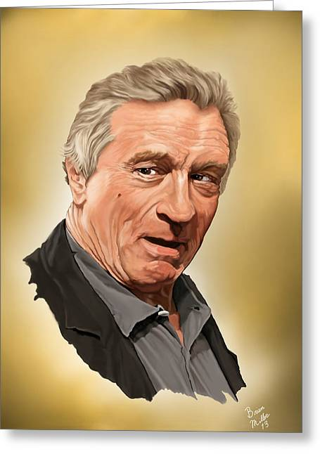 Robert Deniro Greeting Card by Brien Miller