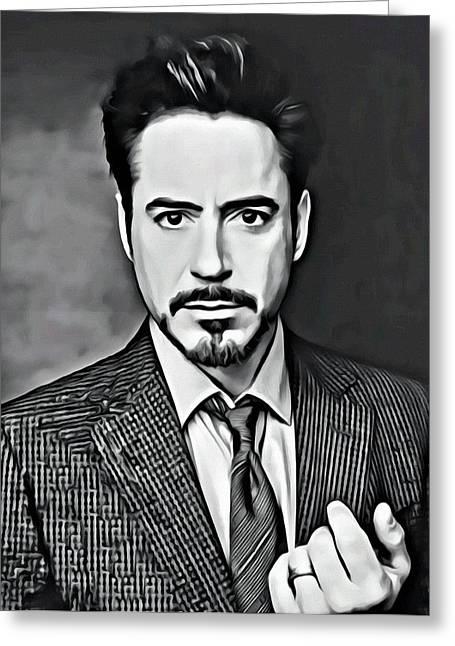 Sex Symbol Photographs Greeting Cards - Robert Downey Jr Greeting Card by Florian Rodarte