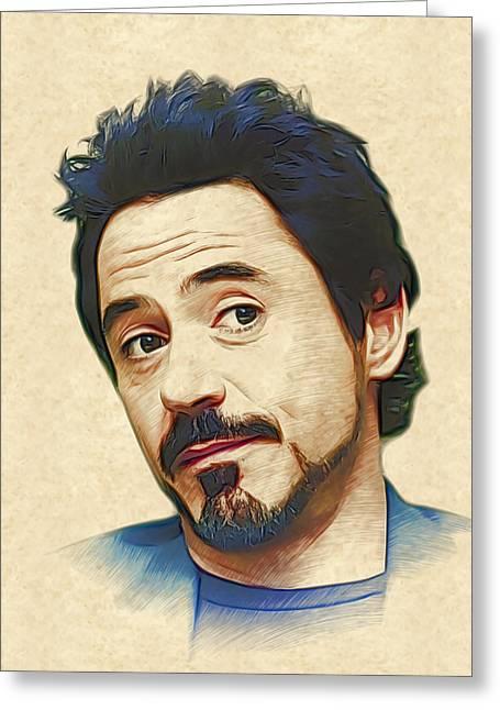 Robert Downey Jr. Greeting Card by Marina Likholat