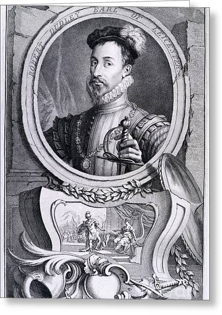 Character Portraits Greeting Cards - Robert Dudley Greeting Card by British Library