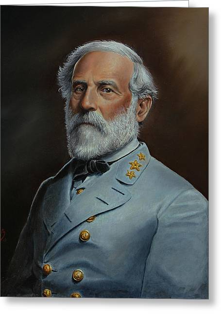 Gettysburg Greeting Cards - Robert E. Lee Greeting Card by Glenn Beasley
