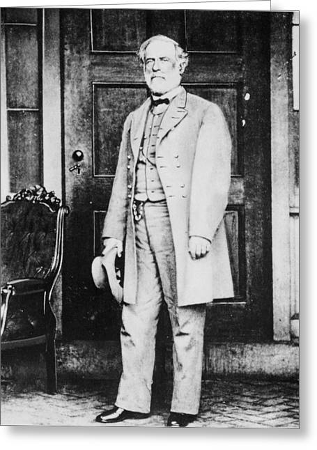 Full-length Portrait Greeting Cards - Robert Edward Lee 1807-70 Bw Photo Greeting Card by American Photographer