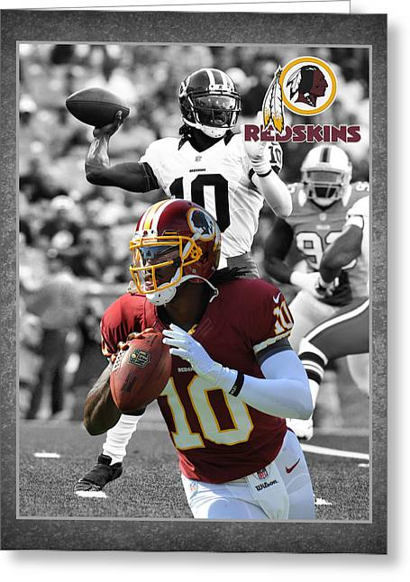 Goals Greeting Cards - Robert Griffin Rgiii Redskins Greeting Card by Joe Hamilton