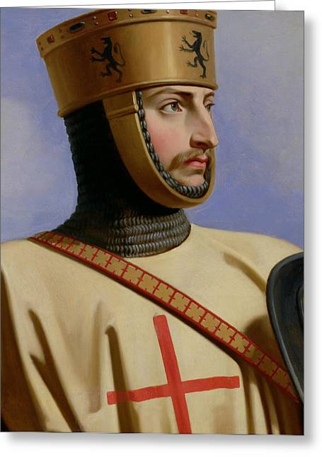 Knight Greeting Cards - Robert II le Hierosolymitain Count of Flanders Greeting Card by Henri Decaisne