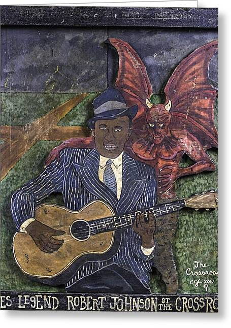 Choosing Paintings Greeting Cards - Robert Johnson at the Crossroads Greeting Card by Eric Cunningham
