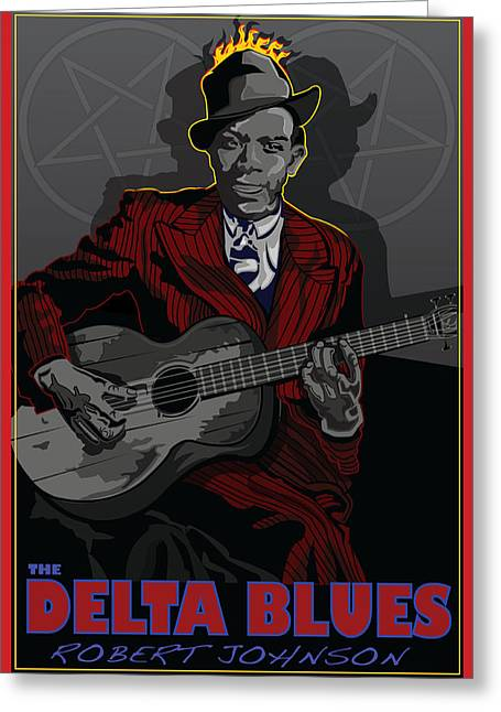 Larry Butterworth Greeting Cards - Robert Johnson Delta Blues Greeting Card by Larry Butterworth