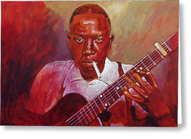 Recommended Paintings Greeting Cards - Robert Johnson Photo Booth Portrait Greeting Card by David Lloyd Glover