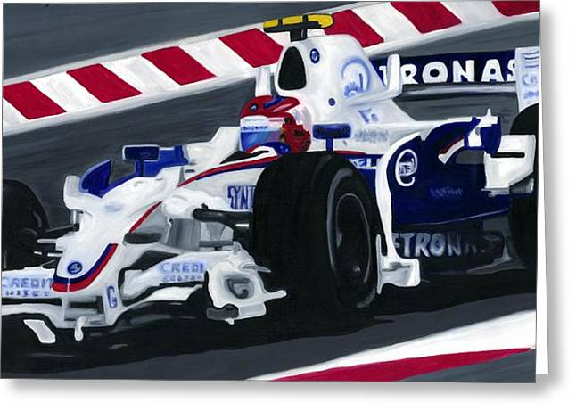 Sauber Greeting Cards - Robert Kubica Wins F1 Canadian Grand Prix 2008  Greeting Card by Ran Andrews