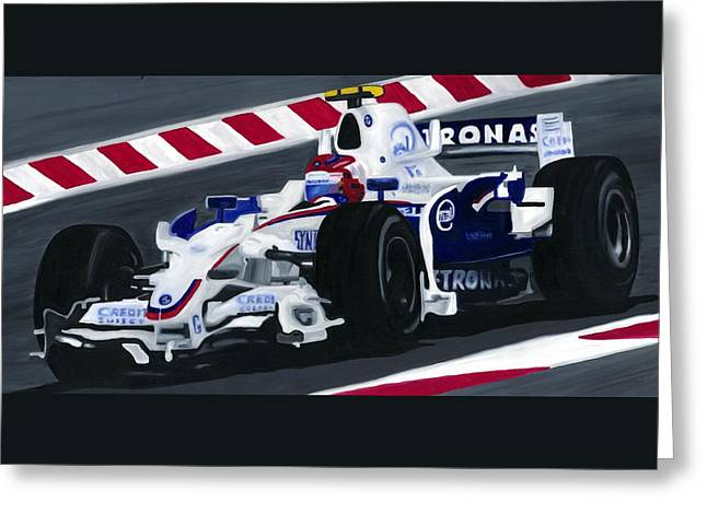 Sauber Greeting Cards - Robert Kubica Wins F1 Canadian Grand Prix 2008  Greeting Card by Ran Andrews