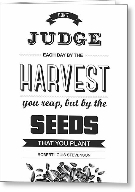 Motivating Poster Greeting Cards - Robert Louis Stevenson Quote Greeting Card by Lab No 4 - The Quotography Department