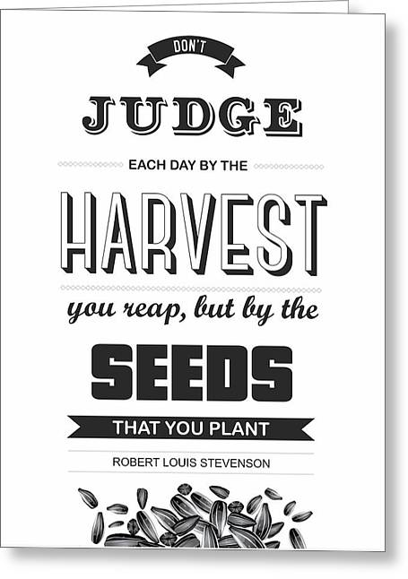 Inspirational Prints Greeting Cards - Robert Louis Stevenson Quote Greeting Card by Lab No 4 - The Quotography Department