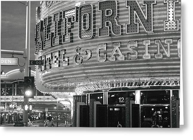 Duo Tone Greeting Cards - Robert Melvin - Fine Art Photography - Sin City - The Californian Greeting Card by Robert Melvin