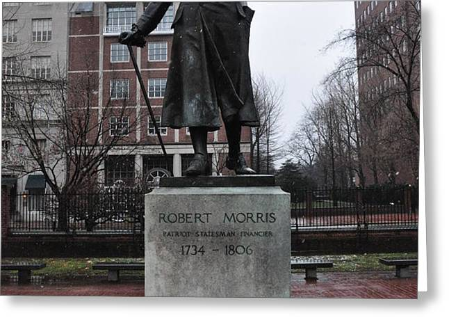 Robert Morris Financier of the American Revolution Greeting Card by Bill Cannon