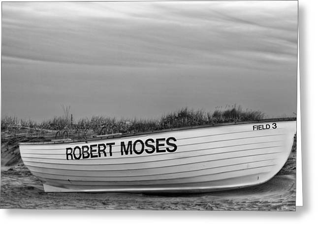 Robert Moses Greeting Cards - Robert Moses Park BW Greeting Card by JC Findley