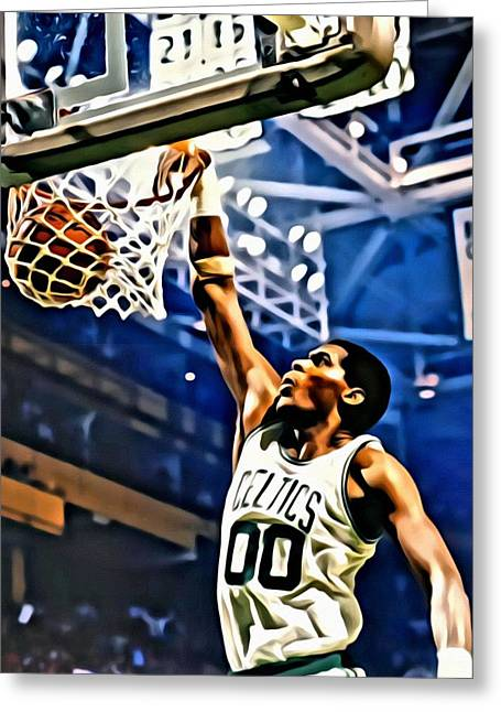 Chicago Bulls Greeting Cards - Robert Parish  Greeting Card by Florian Rodarte